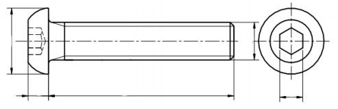 Śruba ISO 7380 -1 PG kl.010.9 PŁA ZN SR