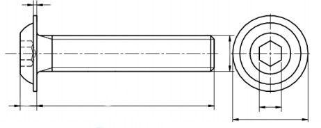 Śruba ISO 7380 -2 PG kl.010.9 Ocynk Płatkowy Czarny
