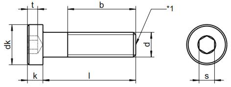 Śruba DIN 7984 NG kl.08.8 Bez Pokrycia M3-M20