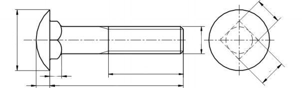 Śruba ISO 8678 PG kl.8.8 Ocynk Płatkowy