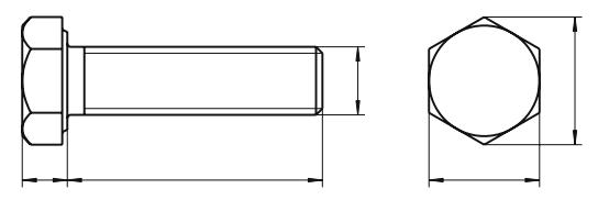 Śruba DIN 961 kl.10.9 Bez Pokrycia M8-M20