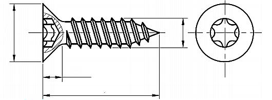 Wkręt do metalu (BLACHOWKRĘT) ST ISO 14586C Ocynk Galwaniczny