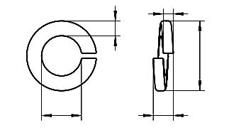 Podkładka DIN 127B Stal Nierdzewna A2 M18,2-M36,5