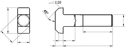 Śruba DIN 186 kl.8.8 GAL ZN