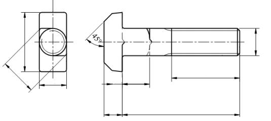 Śruba DIN 188 kl.8.8 GAL ZN