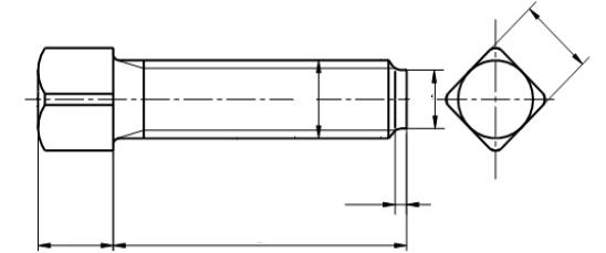 Śruba DIN 479 kl.10.9 BP
