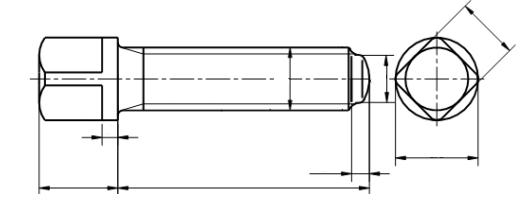 Śruba DIN 480 kl.10.9 BP