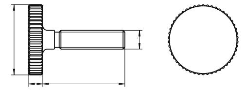 Śruba DIN 653 kl.5.8 GAL ZN