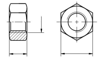 Nakrętka drobnozwojna, lewozwojna DIN 934 kl.8 Ocynk Galwaniczny