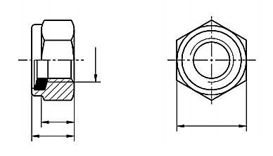 Nakrętka DIN 985 kl.8 Ocynk Płatkowy M24-M48