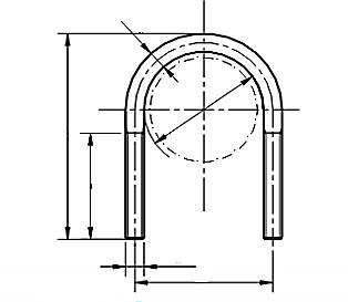 Jarzma DIN 3570A Ocynk Galwaniczny M23-M120
