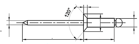 Nit ISO 15978 Aluminium/Stal (NM)