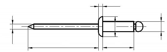Nit z łbem płaskim Stal Kwasoodporna A4/Stal Kwasoodporna A4 (NM)