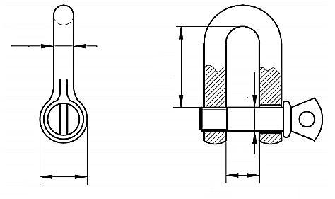 Szekla o zwiększonej wytrzymałości 4,7T-12T Ocynk Galwaniczny