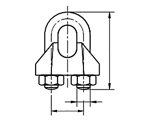 Zacisk kabłąkowy do liny DIN 741 Stal Kwasoodporna A4